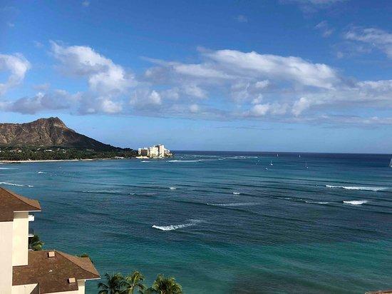 Waikiki Shore: 部屋を出るとダイアモンドヘッド