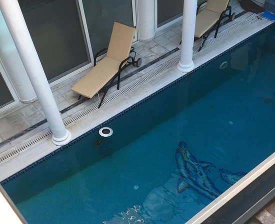 Galatas, กรีซ: floating cable in the pool