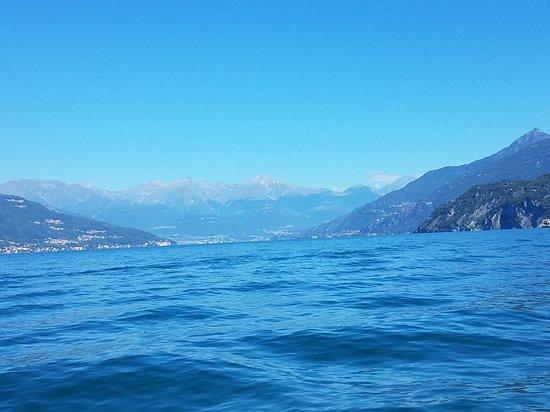 Hiring a Boat? at the Comacina island: Swiss Alps