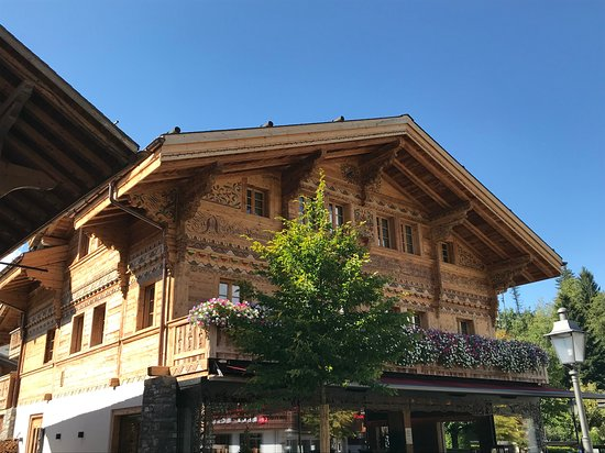 VIEW OF CAPPUCCINO GRAND CAFE IN GSTAAD, SEPTEMBER 2018.