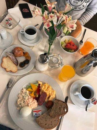 Stará Lesná, Slovensko: our breakfast