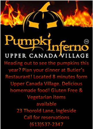 Ingleside, Kanada: The best place to grab dinner before you see the Pumpkins! Kids meals, gluten free, vegetarian!