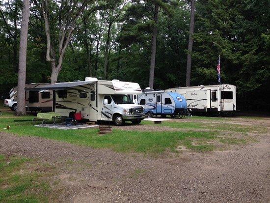 Pentwater, MI: Typical campsites - sites 49, 48 & 47 (pull thru)