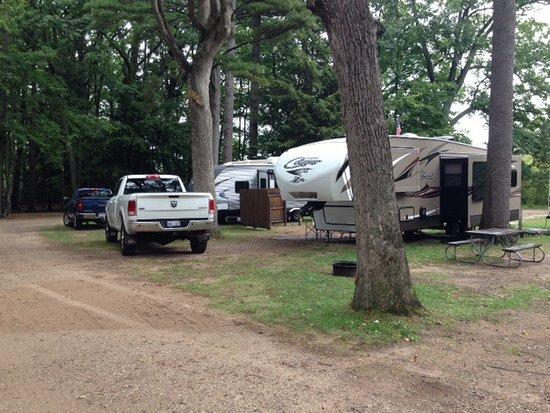 Pentwater, MI: Typical campsite- sites 45 & 46