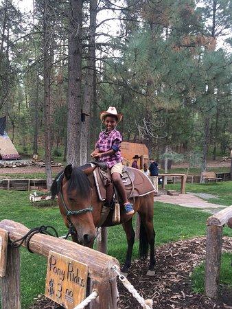 Alto, NM: Paseo a caballo