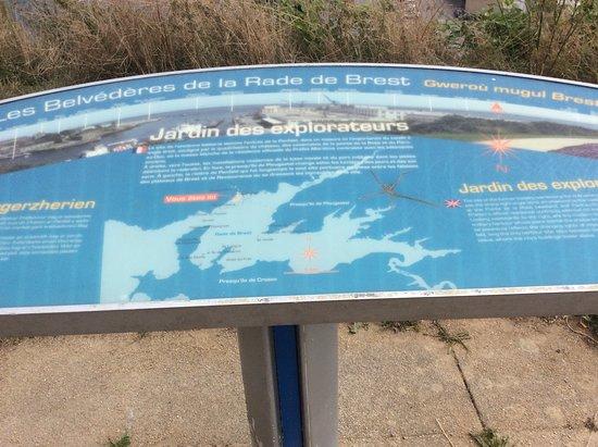 Jardin des Explorateurs : Explication sur la rade de Brest