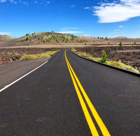 Craters of the Moon National Monument: Der Loop ist auf perfekten Strassen befahrbar.
