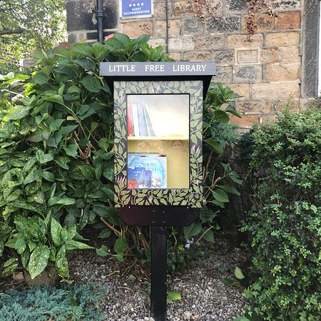 Yeadon, UK: Our new Little Free Library .