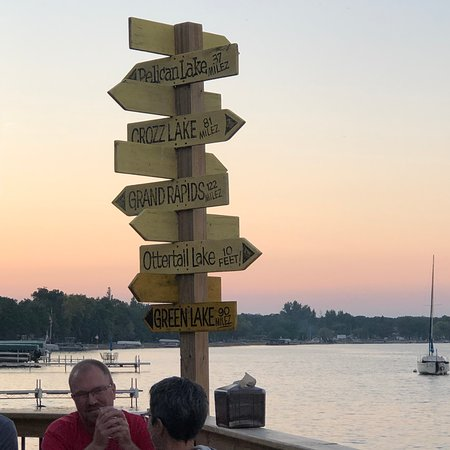 Battle Lake, MN: Sign directing to other Zorbaz in MN