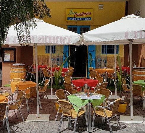Fusion Caribena: Our beautiful and colorful terrace