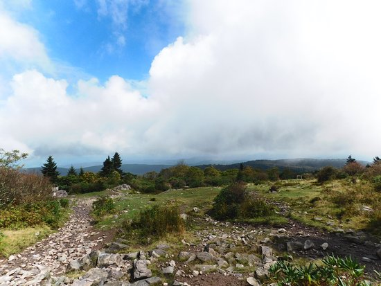 Grayson Highlands State Park: View and trail
