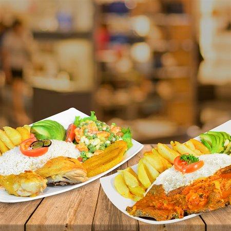 Ambuqui, Ecuador: Muchos de los platos a tu elección. Pollo estofado, bistec de carne