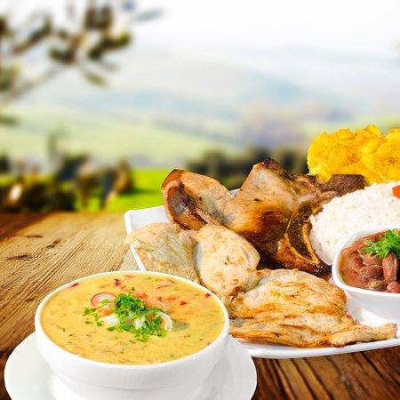 Ambuqui, Ecuador: Muchos de los platos a tu elección. Ceviches, y menestras