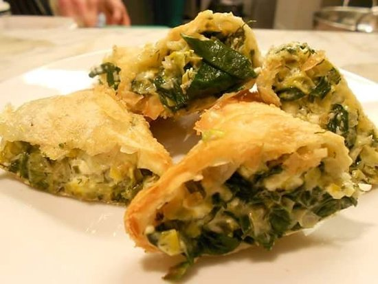 Old Cleeve, UK: Freshly made feta & Spinach pastries