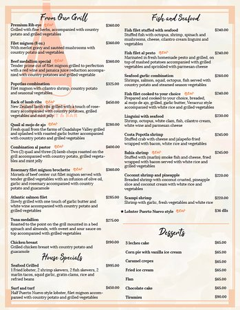 Alle nye From de Grill, House Specials, Seafood and Desserts Menu - Picture SS-91