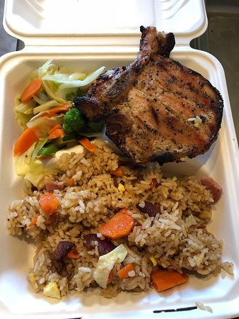 Fort Benton, มอนแทนา: Grilled pork chop special