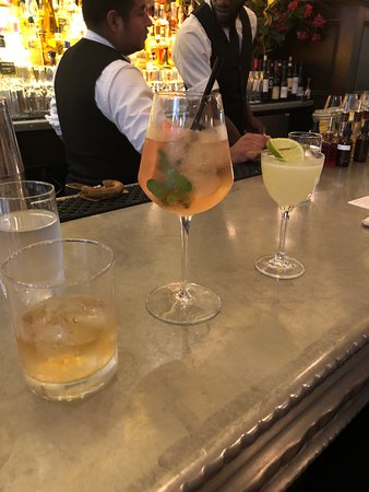 Boucherie Park Avenue South: Lillet rose spritz, whiskey and gimlet