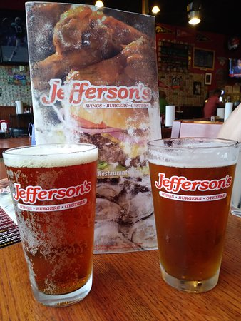 Jefferson's: beer and menu cover