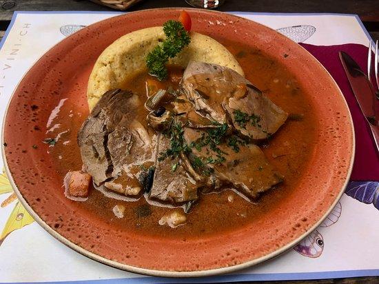 Sonogno, Schweiz: Brasato de Manzo with Polenta