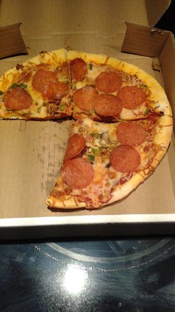Kapuskasing, Canada: this is the pizza i was charged 12 dollars for