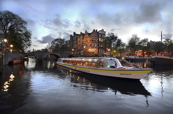 Amsterdam Evening Canal Cruise with 4-Course Dinner and Drinks (347856831)