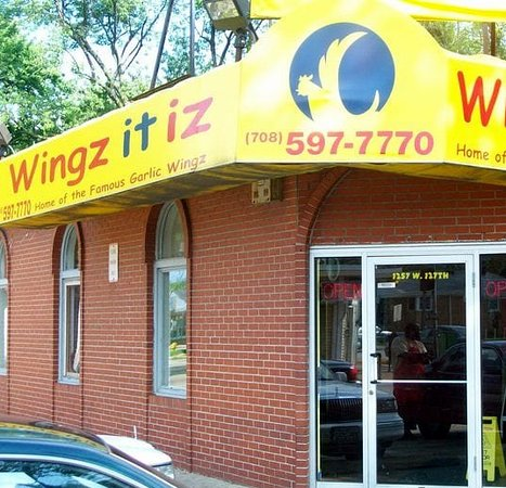 front of & entrance to Wingz It Iz at 1257 W. 127th St. in Calumet Park