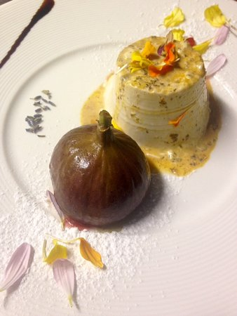 La Montgolfiere Henri Geraci: Panna cotta lavanda, pollen...