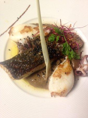 La Montgolfiere Henri Geraci: Corsica seabass, squid, Black Jungle Malawi smoked tea...