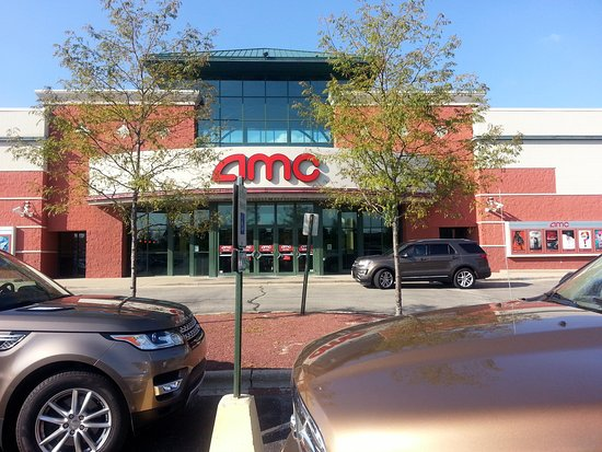 front of & entrance to AMC Lake in the Hills 12