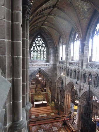 Chester Cathedral: The Nave (1360-1490) built during the Black Death