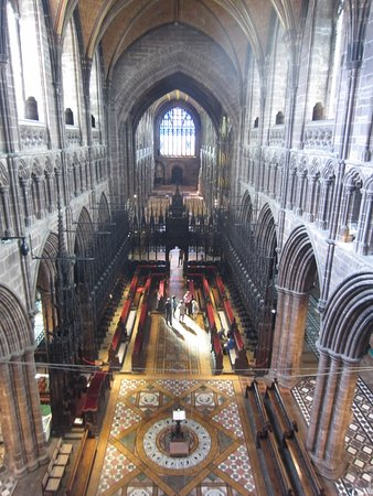 Chester Cathedral: View from above the Altar