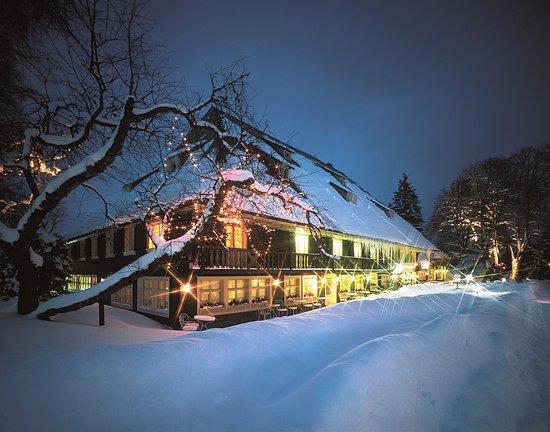 Das historische Schwarzwaldhaus im Winter