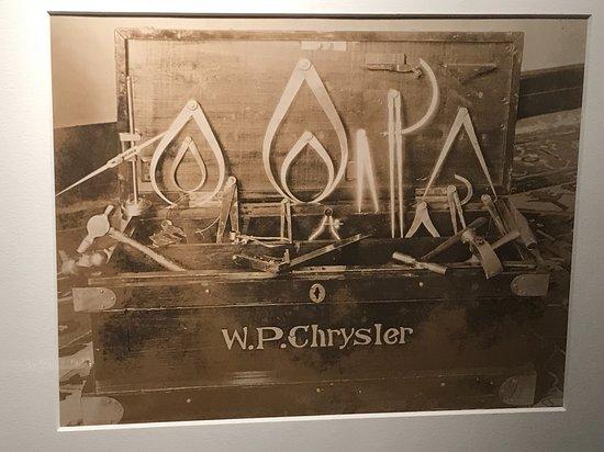 Ellis, KS: Chrysler's original tool kit (of which several tools he made himself)