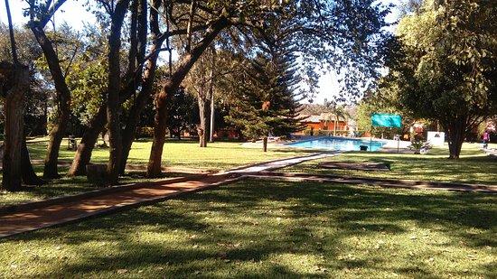 Solwezi, Zambia: Garden and pool