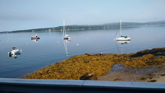 East Boothbay, ME: View outside our room