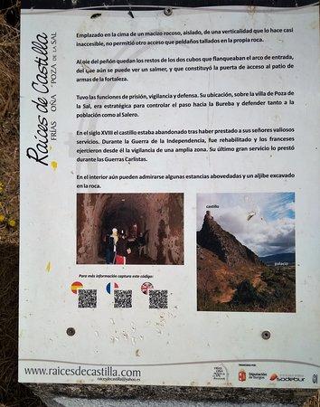 Poza de la Sal, Spain: Panel informativo