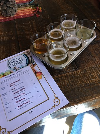 Julian Ciderworks: Menu and Samples