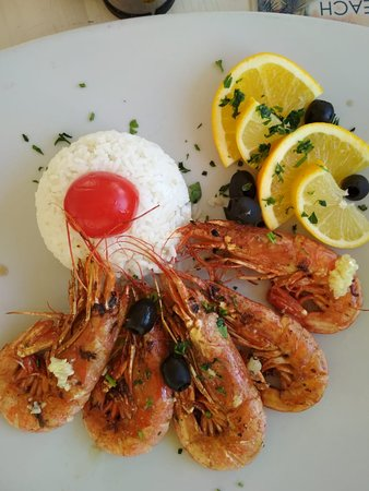 Budva Municipality, Montenegro: grilled shrimps with rice