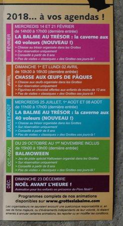 La Balme-les-Grottes, ฝรั่งเศส: Le flyer des grottes de la Balme