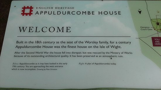 Wroxall, UK: Appeldurcombe House information board