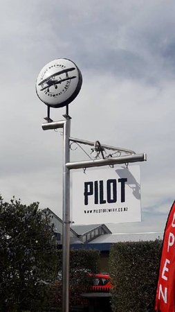 Morrinsville, New Zealand: PILOT BREWERY SIGN - Canada Street Craft Bar & eatery
