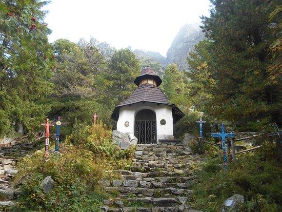 Vysoke Tatry, Slovakia: A chapel in the Symbolic cemetery