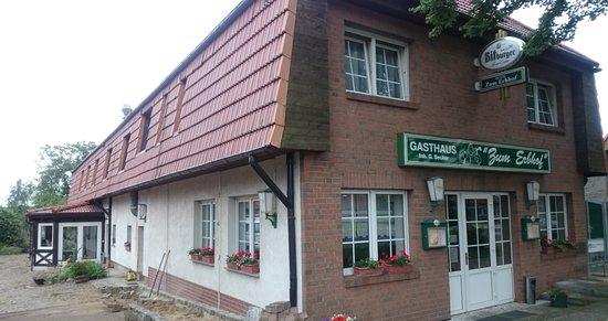 Alt-Ruppin, Germany: Straßenseite mit Eingang