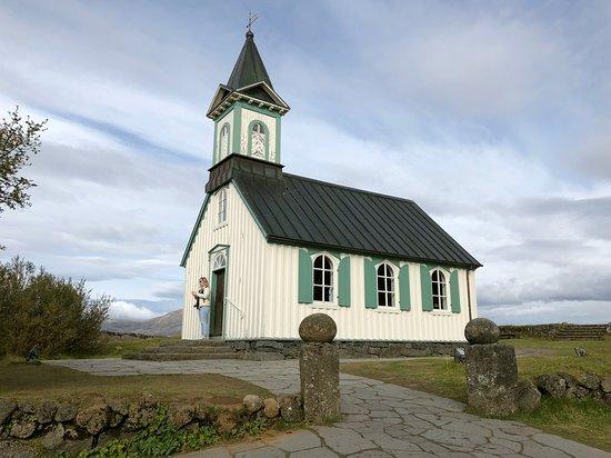Ruta del Círculo Dorado: church in pingvellir park golden circle Iceland