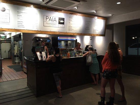 Order at the counter at Pa'ia Fishmarket