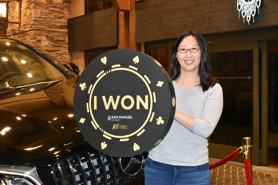 Highland, CA: Club Serrano member Cynthia won a 2018 Mercedes AMG GLC Coupe on September 20, 2018 at San Manue