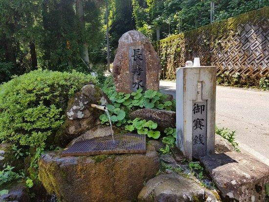 Takayama, Japan: 調べていかないと気が付かないかも。柔らかく澄んだおいしい水ですよ!