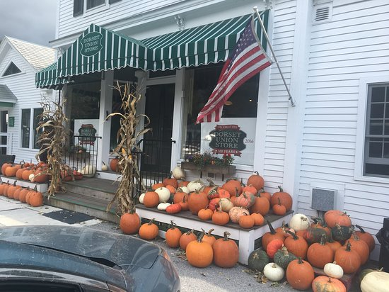 Dorset, VT: Getting ready for Halloween already.