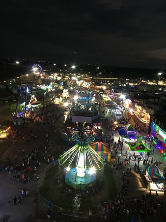 Hutchinson, KS: A ferris wheel view of the midway.