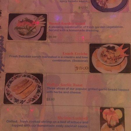 Sanny's Grill: Menu in bzd